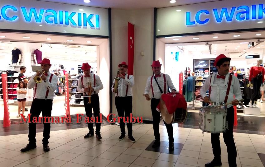 avm etkinliği bando takımı